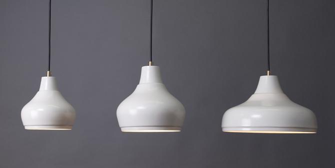 porseleinen hanglampen Aeolus Collectie by Fenna Oosterhoff