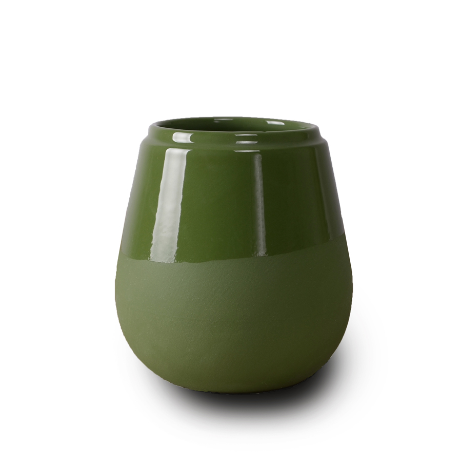Doolittle kleine vaas/pot groen, ontwerp Fenna Oosterhoff