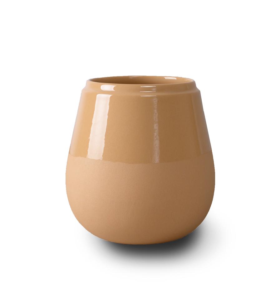 Doolittle kleine vaas/pot oker, ontwerp Fenna Oosterhoff