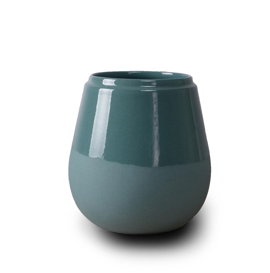 Doolittle kleine vaas/pot turkoois, ontwerp Fenna Oosterhoff