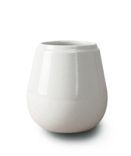Doolittle small pot/vase white by Fenna Oosterhoff