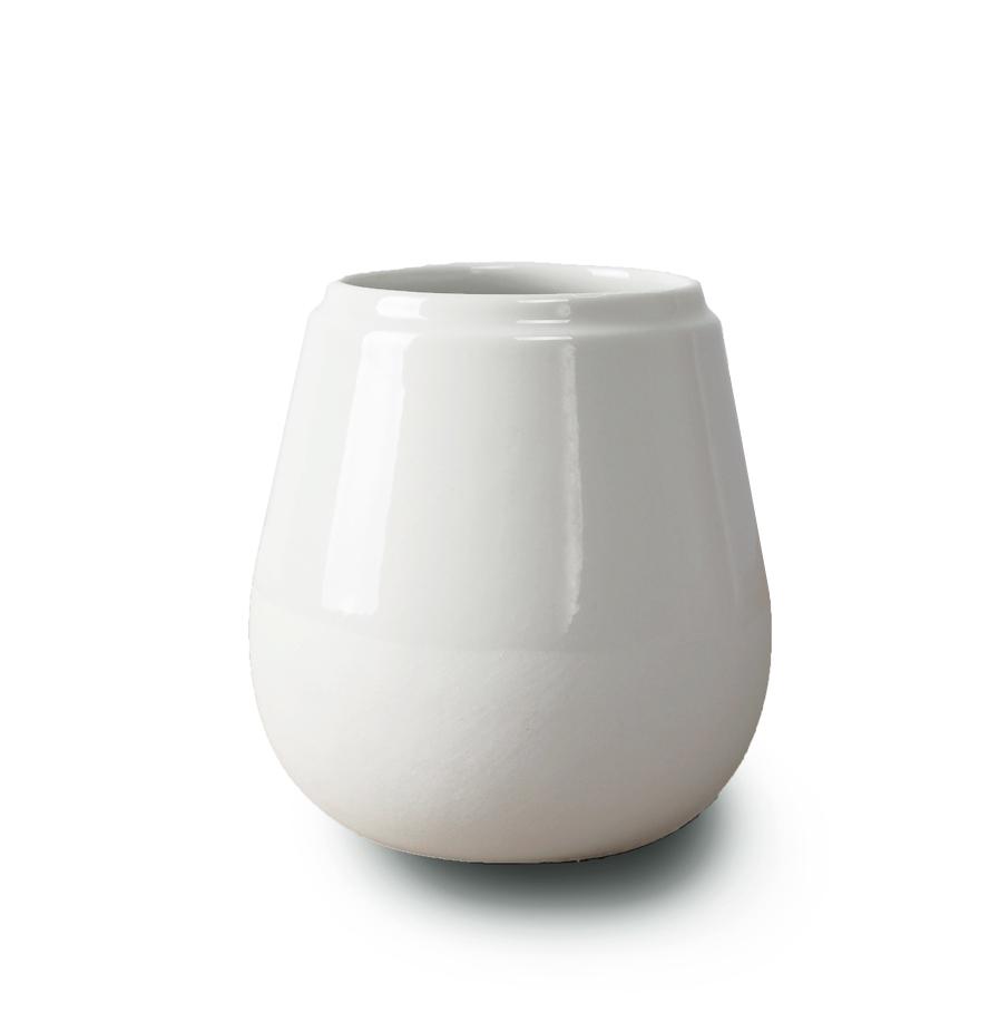 Doolittle kleine vaas/pot wit, ontwerp Fenna Oosterhoff