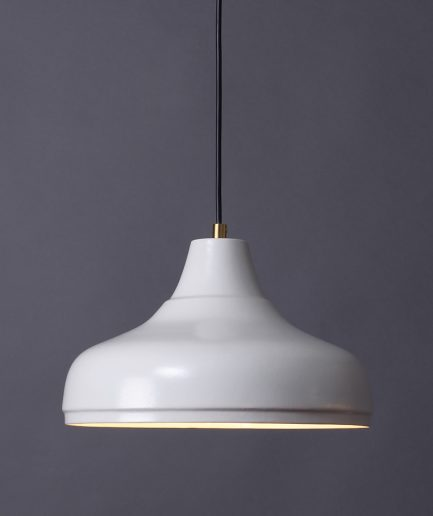 Porseleinen hanglamp Aeolus Large, ontwerp Fenna Oosterhoff