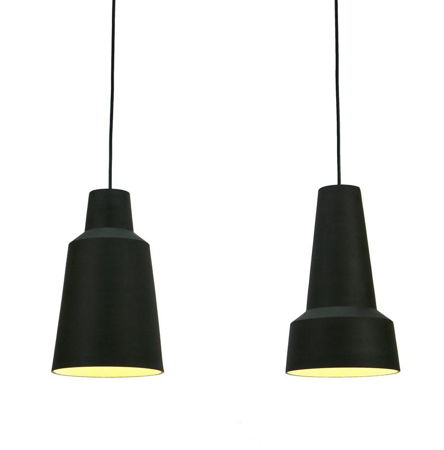 Hanglampen Soludum van steengoed, ontwerp door Fenna Oosterhoff