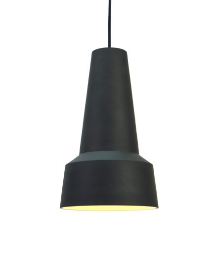 Pendant lamp made of Stoneware low model L1402 design by Fenna Oosterhoff