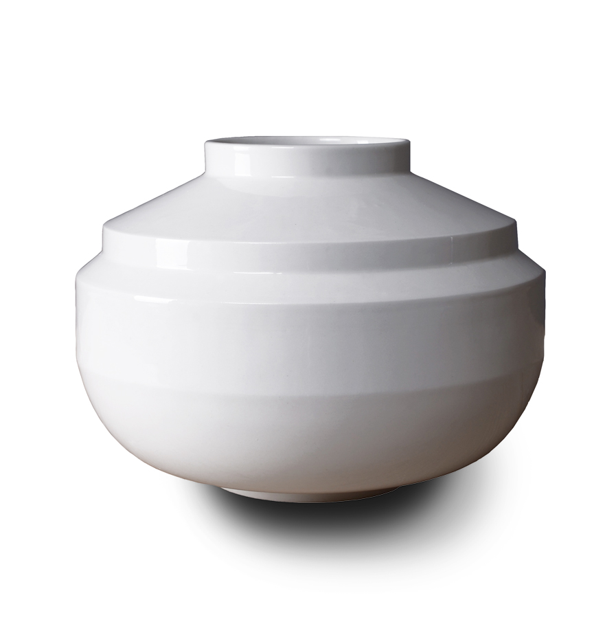 Wide Edged vaas wit, ontwerp Fenna Oosterhoff