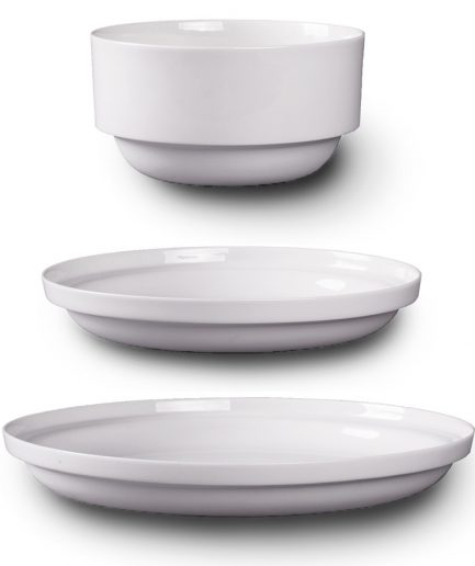 EDGE Plates set white porcelain