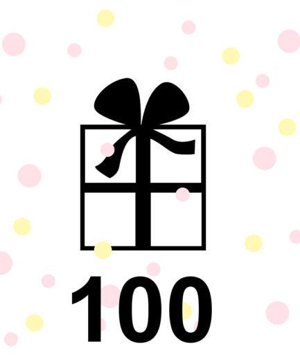 Cadeaubon 100 euro te besteden in de webshop www.fennaoosterhoff.nl