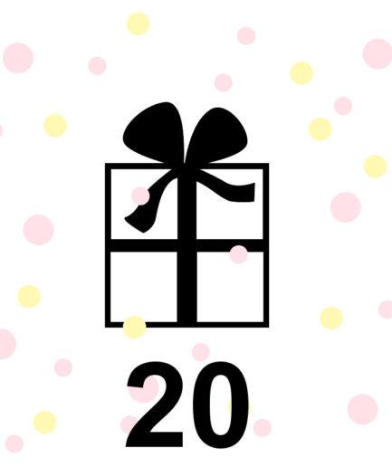 Cadeaubon 20 euro te besteden in de webshop www.fennaoosterhoff.nl