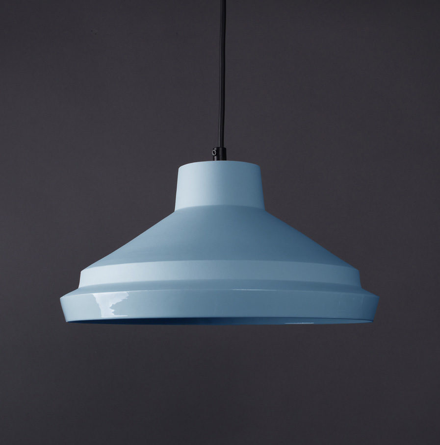 Porcelain Lamp Notos Large, skyblue, by Fenna Oosterhoff