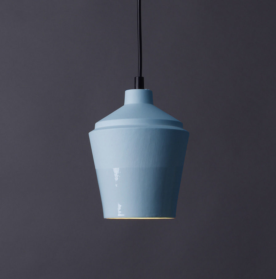 Notos small lamp, sky blue by Fenna Oosterhoff