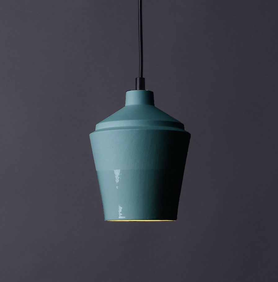 Notos small lamp, turquoise by Fenna Oosterhoff