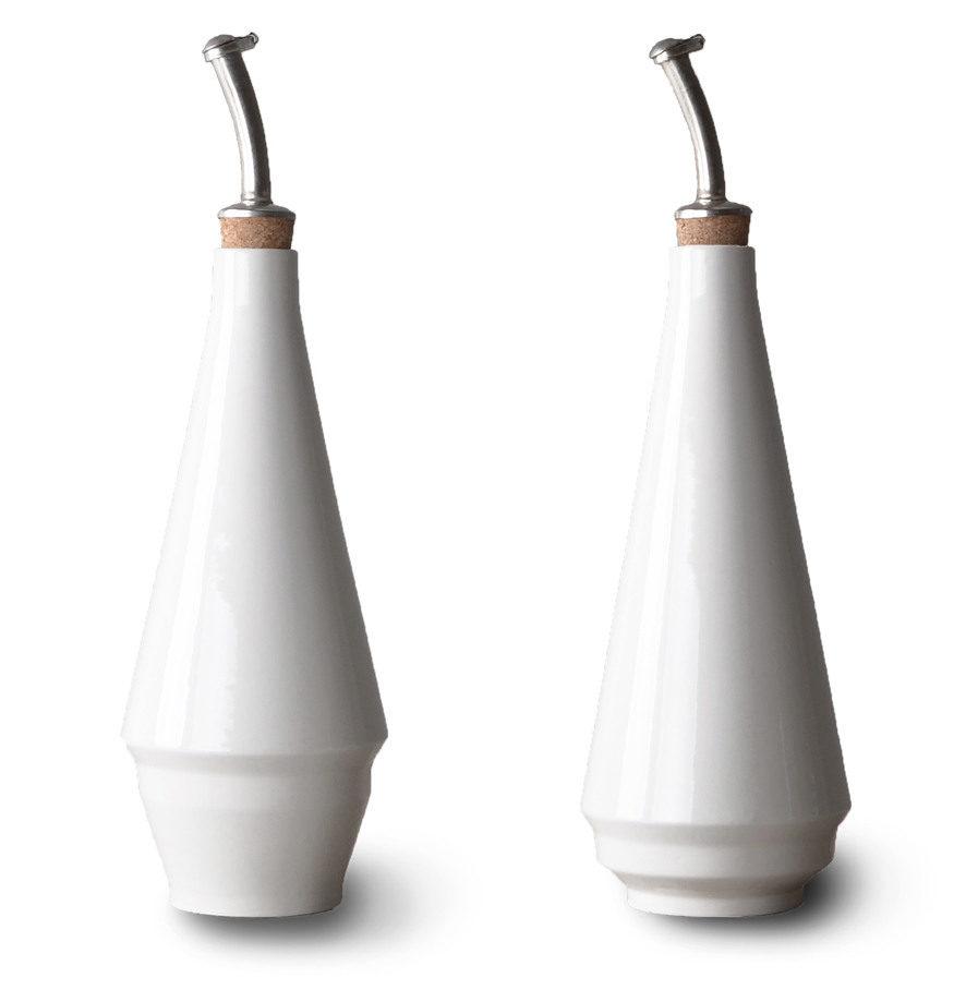 Olie & Azijnflessen / vaasjes van porselein