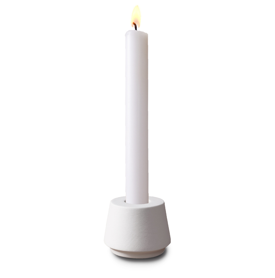 Candle Holder Made Of White Porcelain