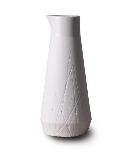 Carafe Gramineae white porcelain, 0.5L