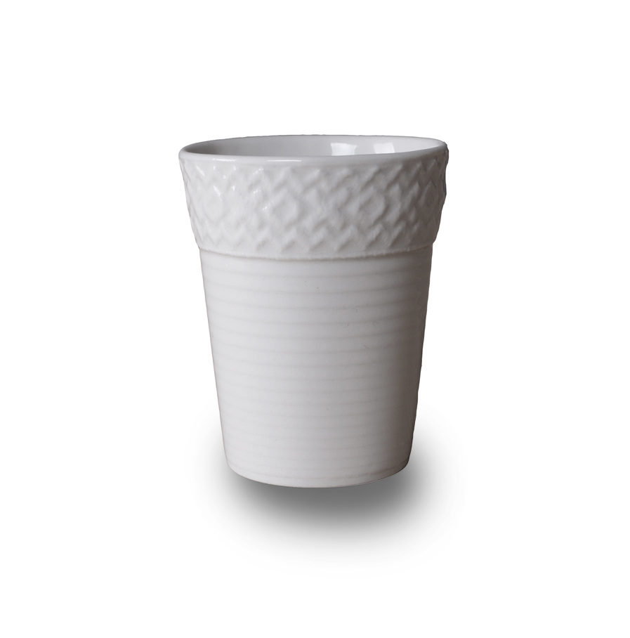 porcelain Espresso cup with lace, Bordo