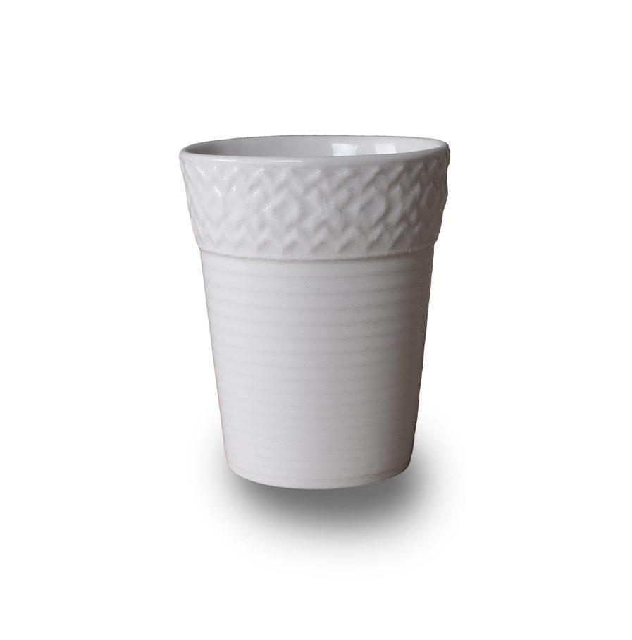 Espresso kopje met kanten randje, Bordo