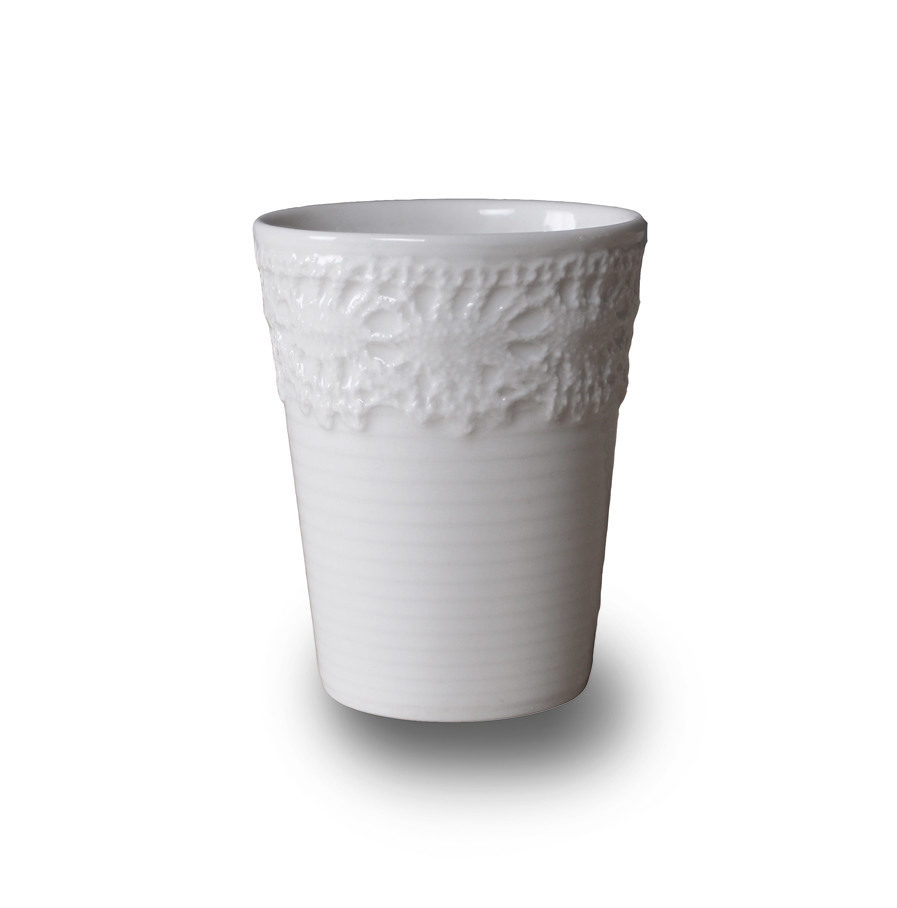 porcelain Espresso cup with lace, Ore