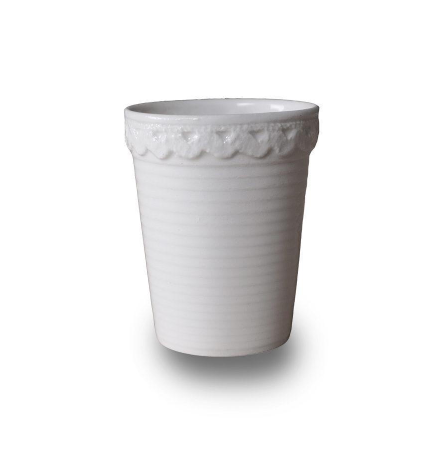 porcelain Espresso cup with lace, Mala