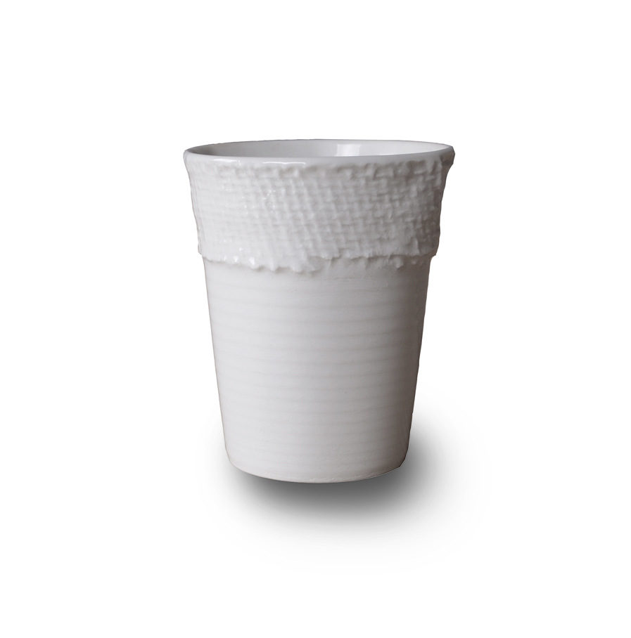porcelain Espresso cup with lace, Ego