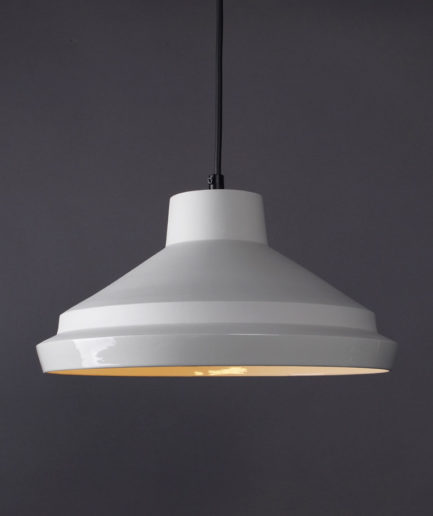 Pendant Light Notos Large, white porcelain