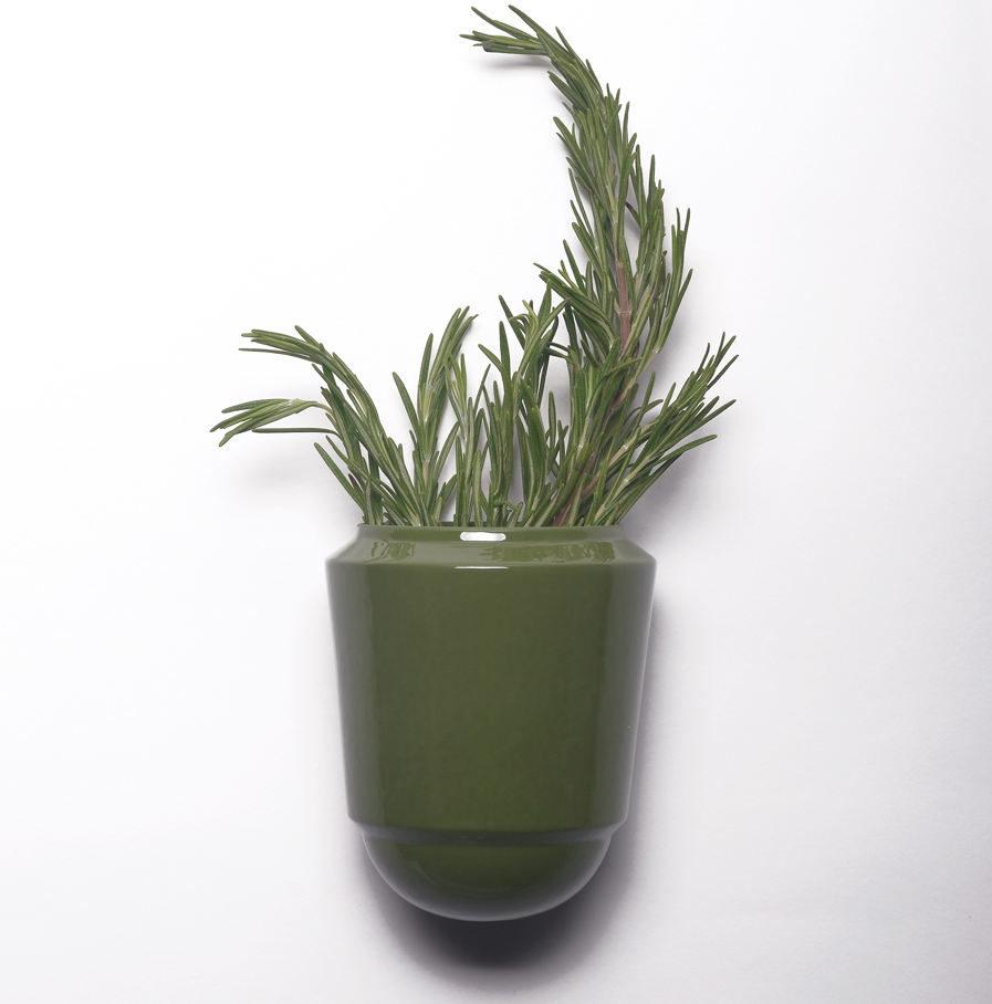 Wandpot Herba voor verse kruiden, groen, Suspense Wandcollectie