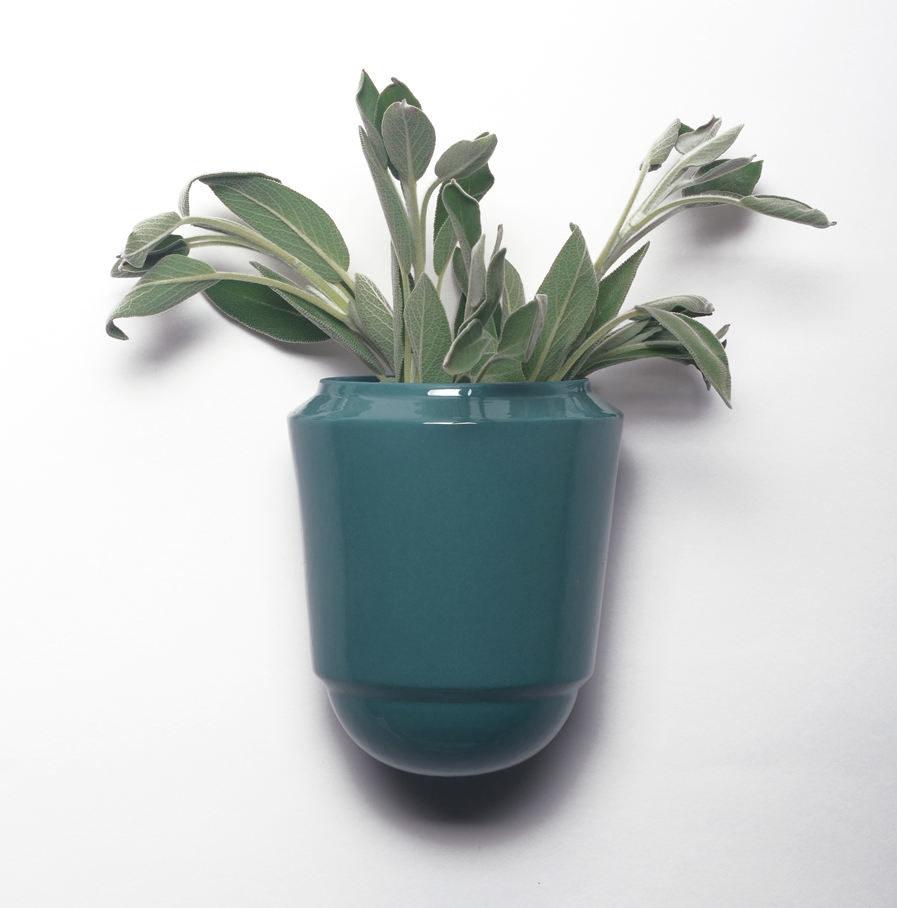 Wandpot Herba voor verse kruiden, turkoois, Suspense Wandcollectie