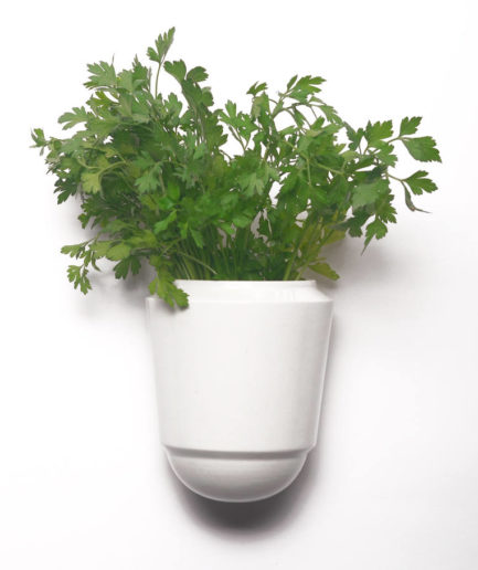 Wall pot Herba for fresh herbs, white
