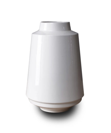 High Edged vase white, porcelain