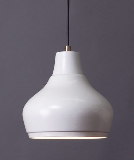 Pendant light Aeolus Medium, porcelain