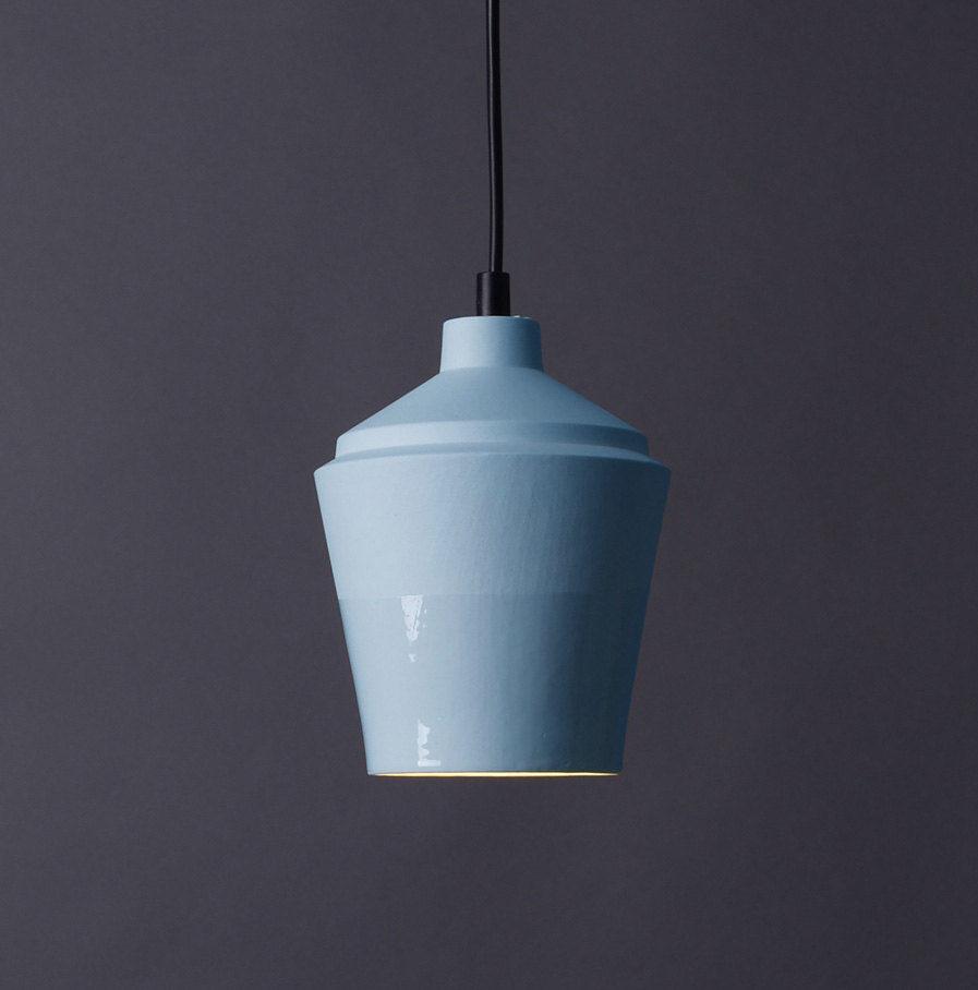 Sfeerlamp Notos small van porselein, hemelsblauw