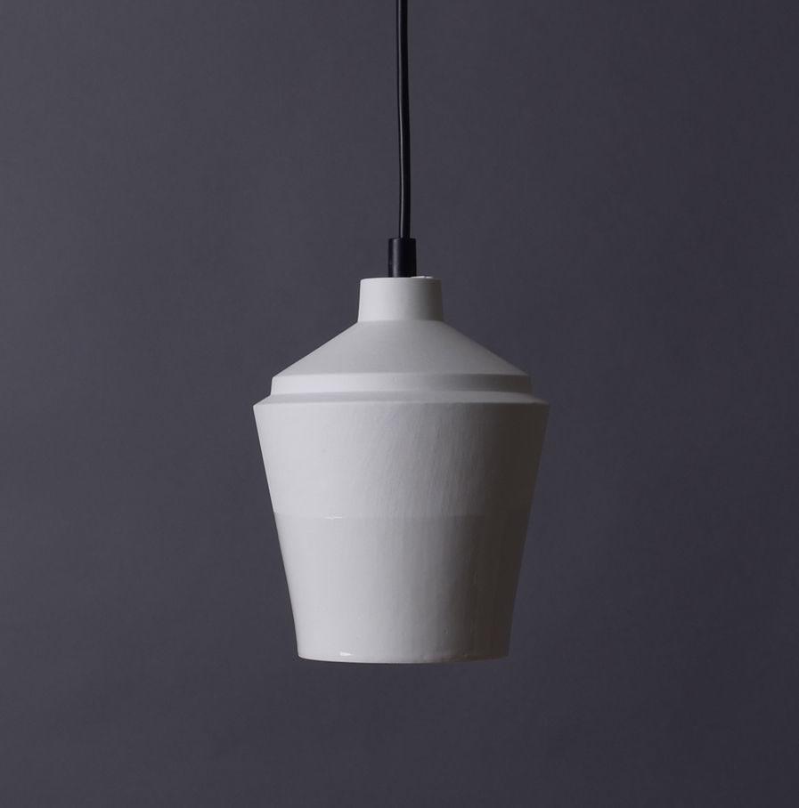 Sfeerlamp Notos small van porselein, wit