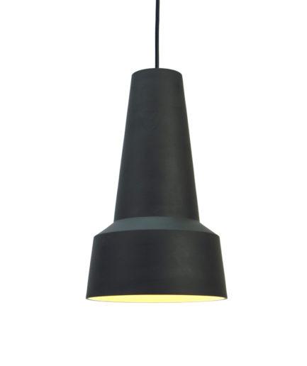 Hanglamp Solidum II, gemaakt van twee kleuren steengoed