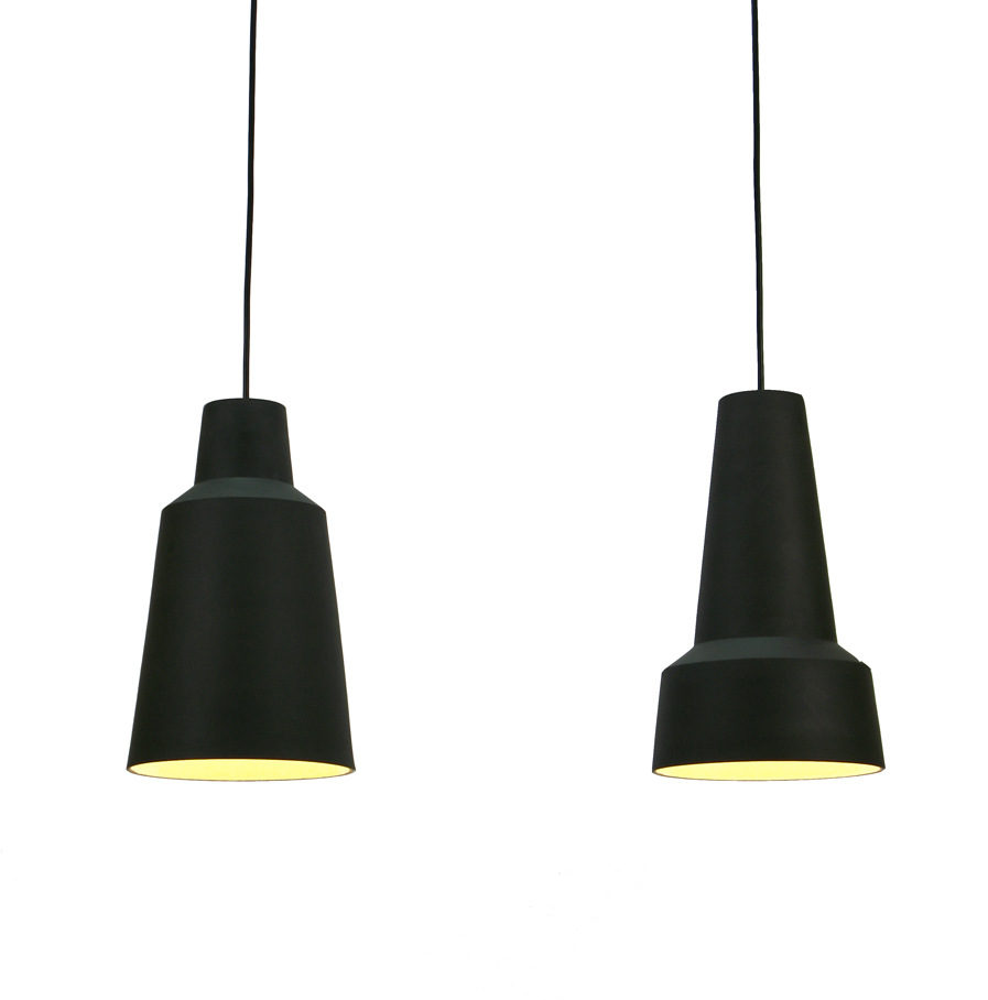 Stoneware pendant lights Solidum, by Fenna Oosterhoff