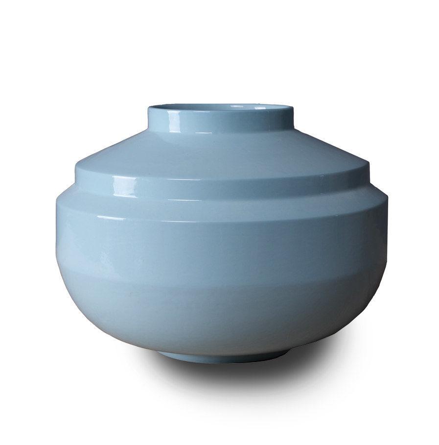 Wide Edged vaas van porselein, hemelsblauwWide Edged vaas van porselein, hemelsblauw