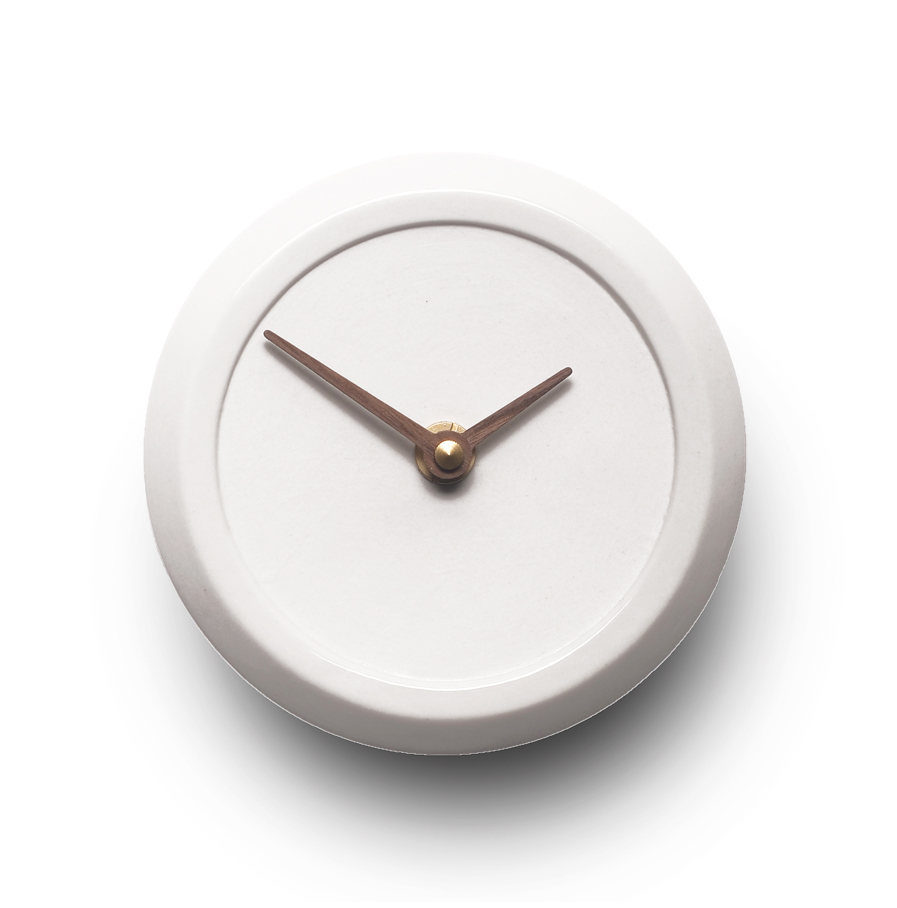 Wall Clock Aura white, Suspense Wall Collection