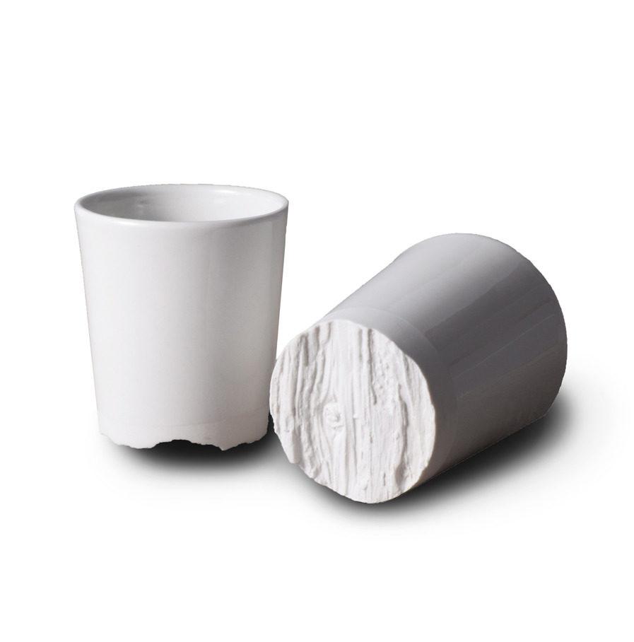 Treebark cup van porselein, Eik