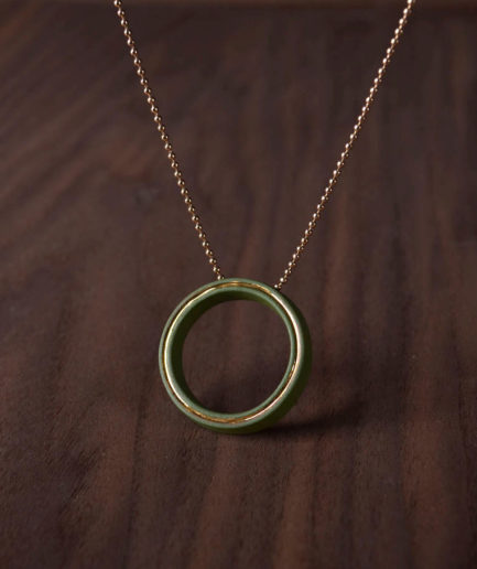 Geometrics ketting Circle groen