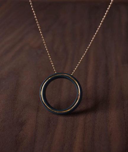 Geometrics ketting Circle zwart