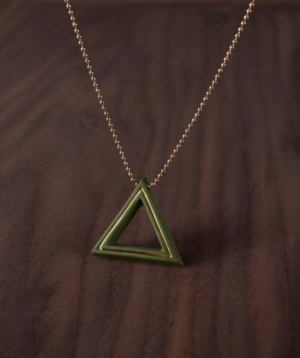 Geometrics ketting Triangle groen