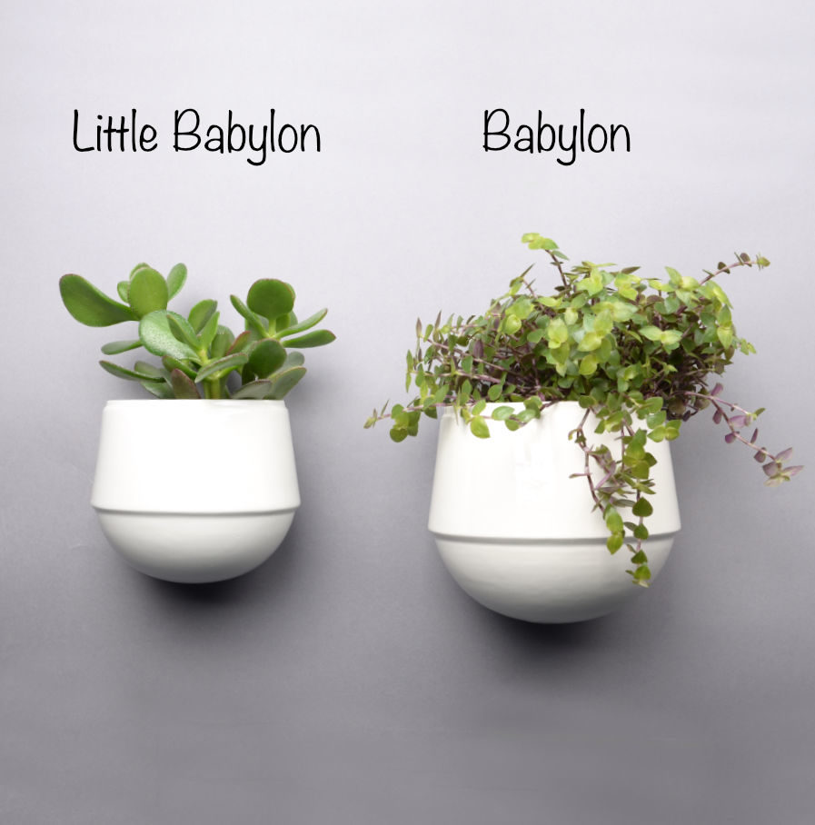Little Babylon en Babylon, porseleinen wandbloempotten